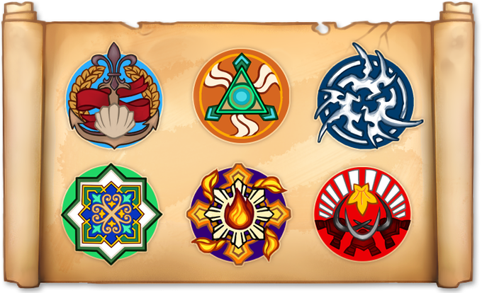 All six factions of Regalia's world