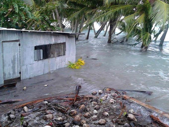 2015 New Year's flood. Photo by Kolee Tinga.