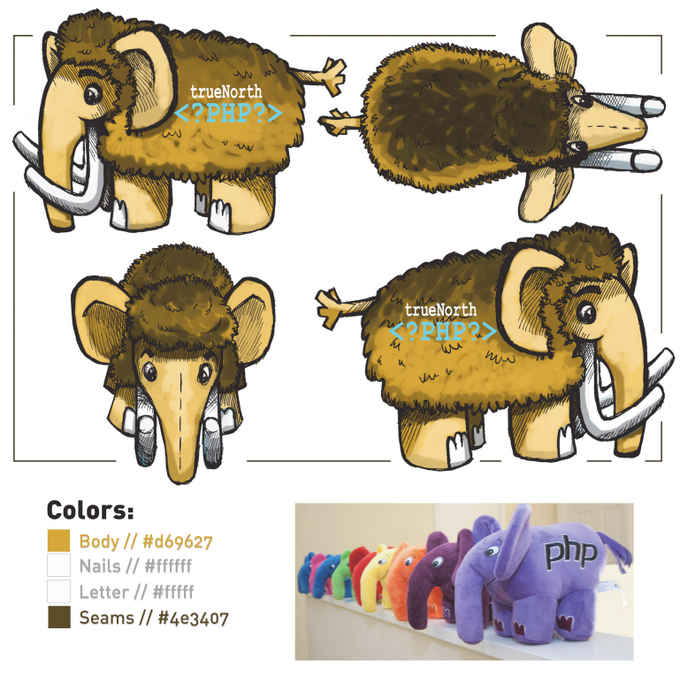 PHP Woolly Mammoth Design Drawings