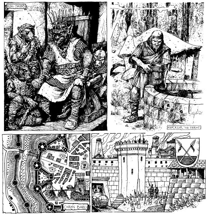 Sample of Russ Nicholson's classic illustrations