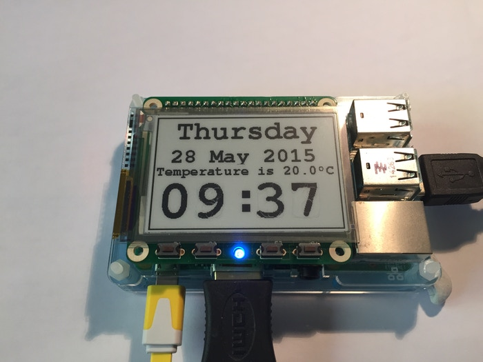 E-paper display HAT for the Raspberry Pi by Percheron