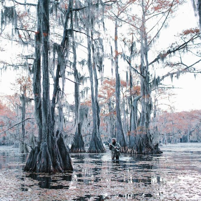 "$125 Hunter at Caddo Lake, Texas. Lance Rosenfield. 2014. 8""x8"" Digital C-print"