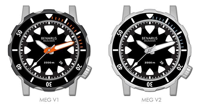 Benarus Megalodon, models MEG V1 & MEG V2