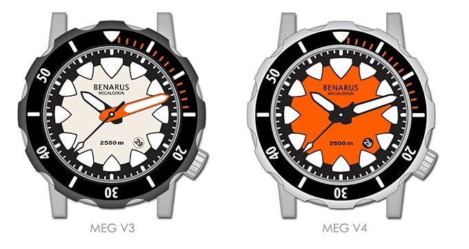 Benarus Megalodon, models MEG V3 & MEG V4