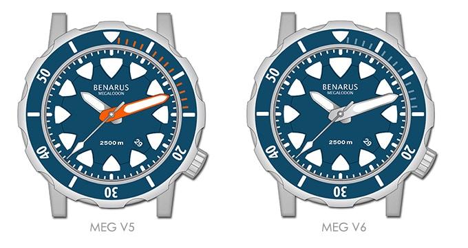Benarus Megalodon, models MEG V5 & MEG V6