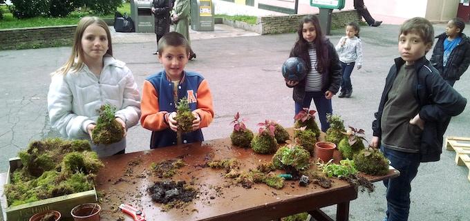 Nous mettons des plantes et du terreau dans les mains des plus jeunes pour lutter contre la fracture végétale