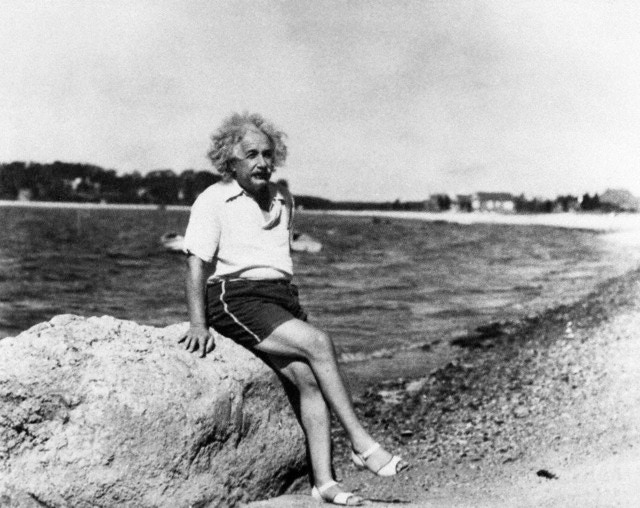 Albert Einstein on Long Island, 1939.