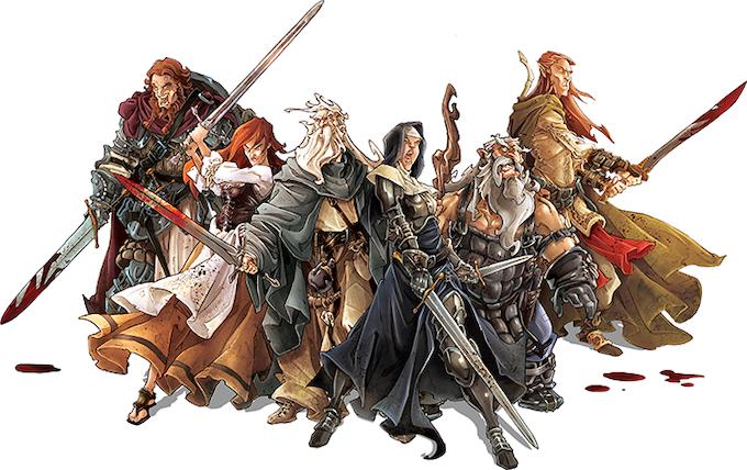 Black Plague's brave survivors: Clovis, Nelly, Baldric, Ann, Samson, and Silas