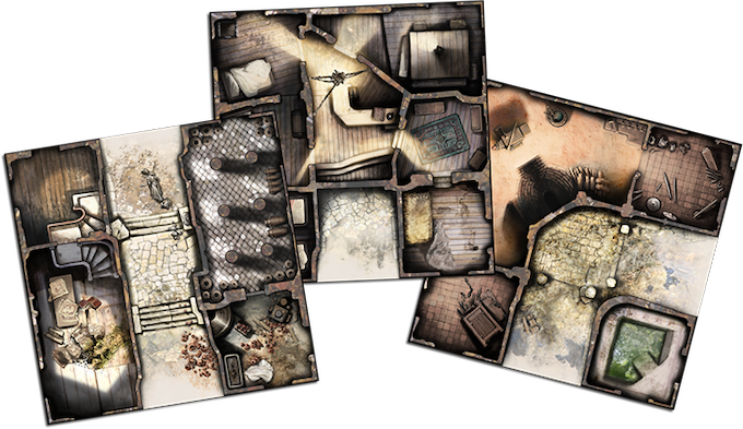 A sample of the 9 tiles included in Black Plague