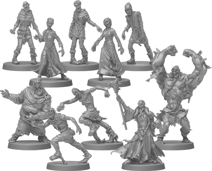 And the frighteningly detailed Black Plague zombies!