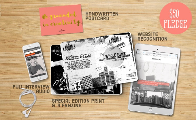 Special edition print illustrated by Cristianne Ly and a magazine featuring season two fabricants, as well as website recognition, the digital wallpaper, an original postcard and full audio recording.