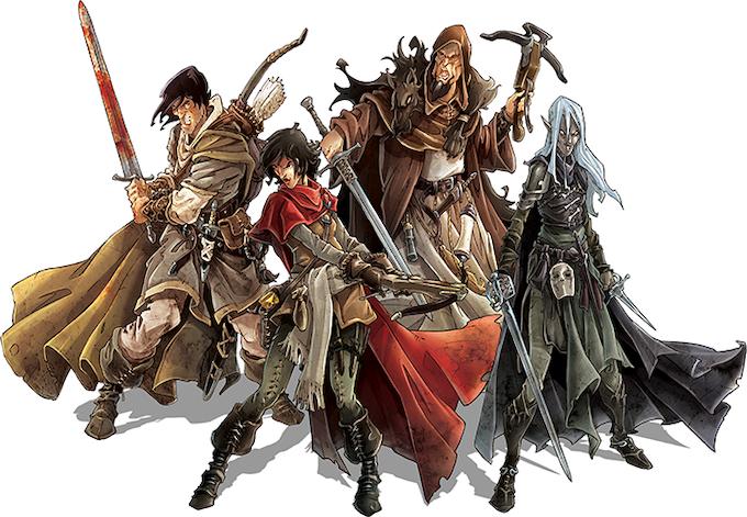 Wulfsburg's dauntless survivors: Theo, Ariane, Karl, and Morrigan