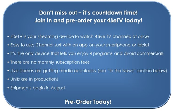 4SeTV™ - Watch 4 TV Channels on Any Screen At Once by 4SeTV, Inc