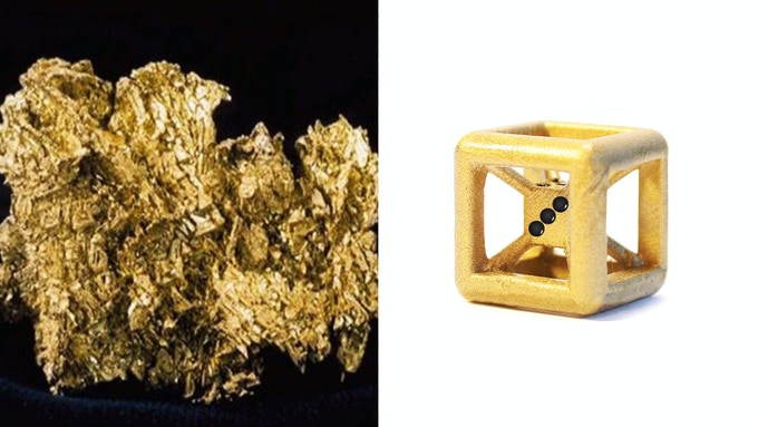 Actual Picture of Gold / Gold Die