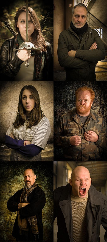 Main Cast Portraits by Mythology Studios, LLC