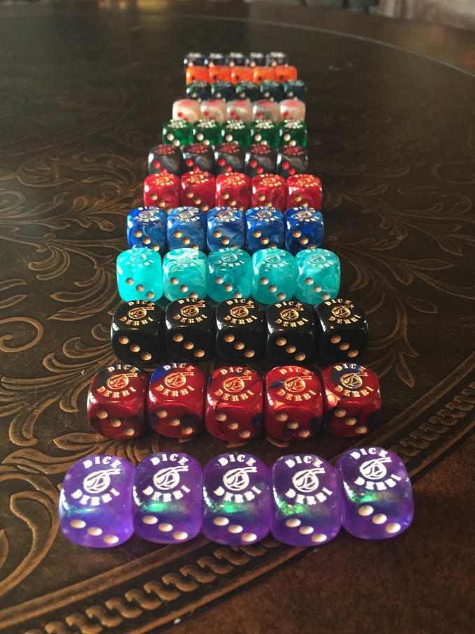 Limited Edition Dice Sets for Dice Derbi