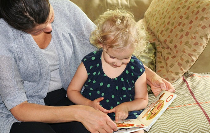 Naomi explores the adorable world of monsters with help from her mom, Anne.