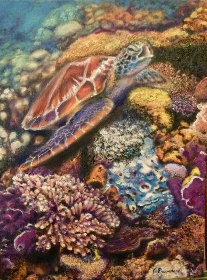 'Sea Turtle' by Victoria Preciado