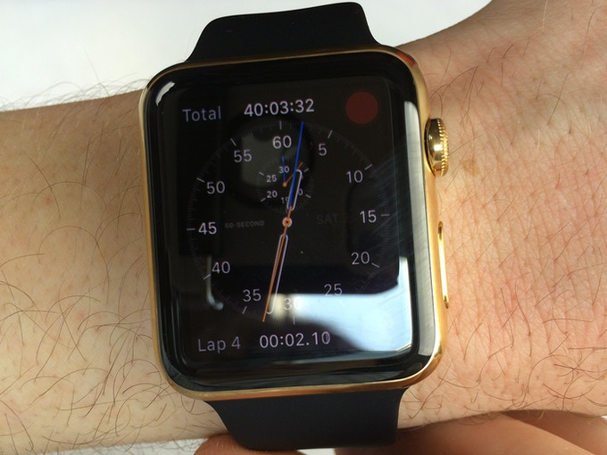 Gold Plated Apple Watch Front - Click for higher resolution pic