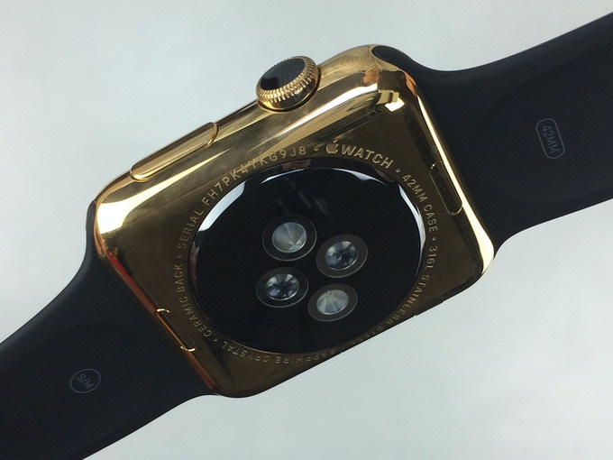 Gold Plated Apple Watch Back - Click for higher resolution pic