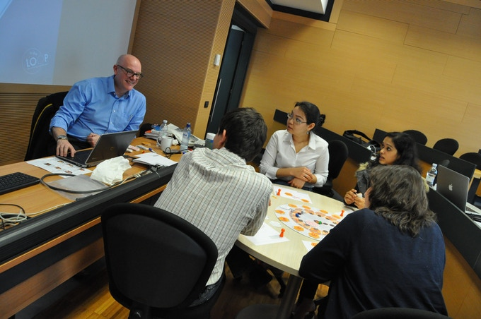 MBA students from Politecnico di Milano's Business School (MIP) during a week-long circular economy course