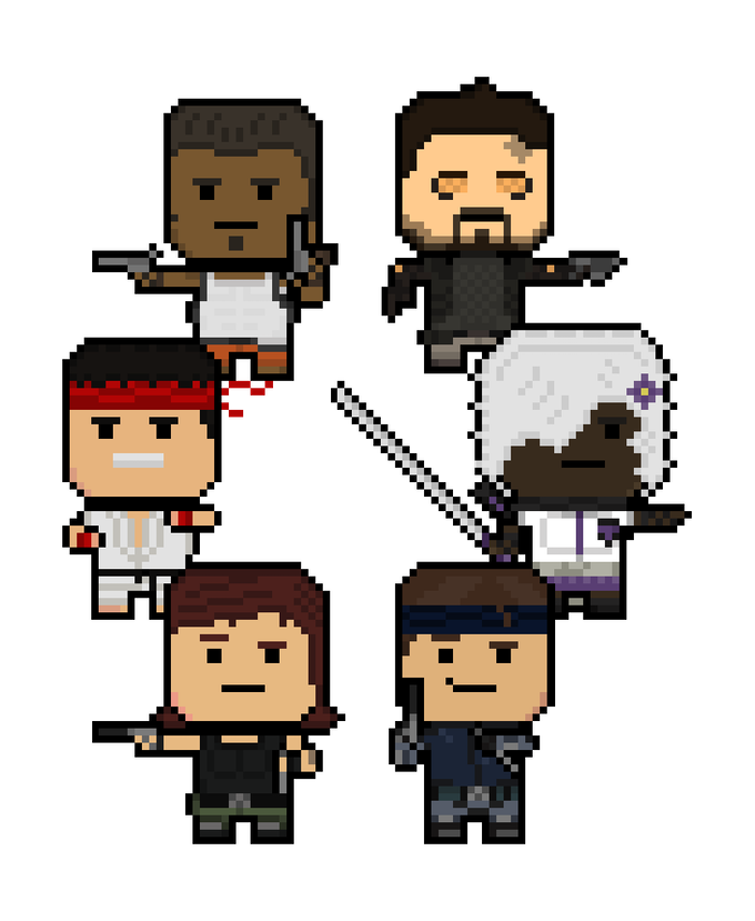 Reynard Squad - The Protagonist and some of the Companions