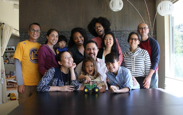 Brunch with the bookmakers & their families. When I started working on Oh, Oh, Baby Boy, our little one (pictured here, front and center) was just an infant, and our older one (front right) was 3! Now preschool and just finishing 1st grade. Whoa.