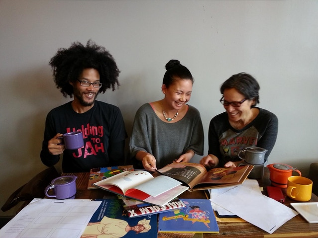 Working with Robert (left) & Laurin (right) on their book