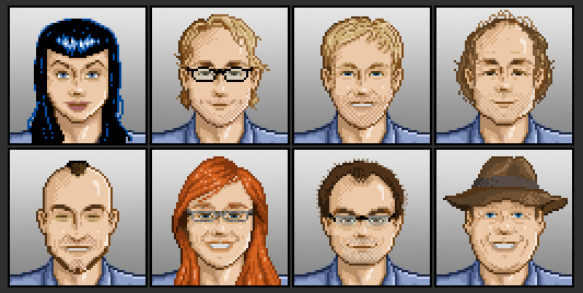 In GhostControl Inc. you could choose from 175 handpixeled ghosthunters