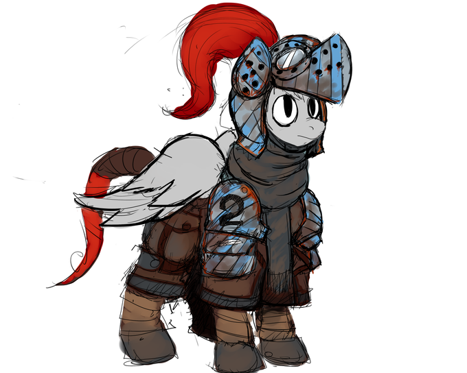 Bright-eyed and bushy-tailed heavy Armored Pegasus Rookie
