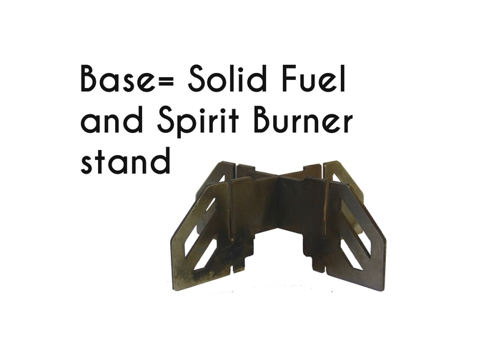 $25 Base of stove can be used for solid fuel tablets and spirit burners