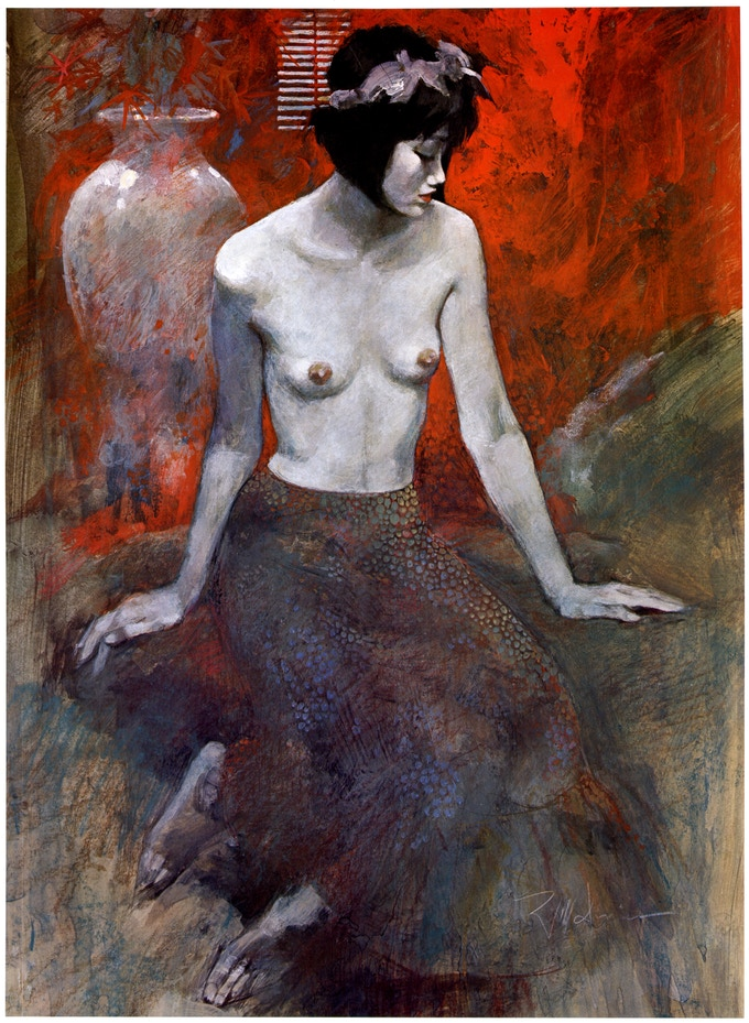 """The painting """"Chinese Nude"""" which will appear on the poster reward for this campaign."""