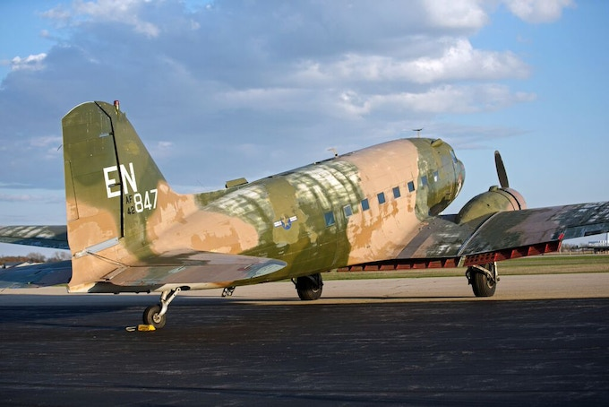 Today, the aircraft is painted as an AC-47 gunship from the Vietnam era, but never served in that role.
