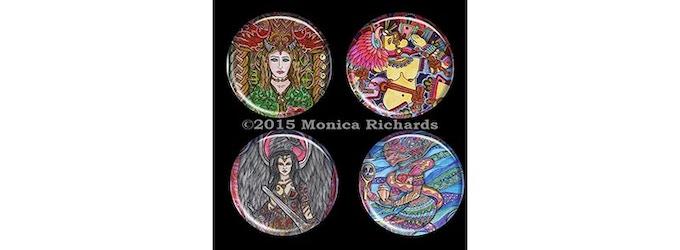 Set of 4 badges