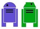 Robot CoPilot both Factions Silhouette Token