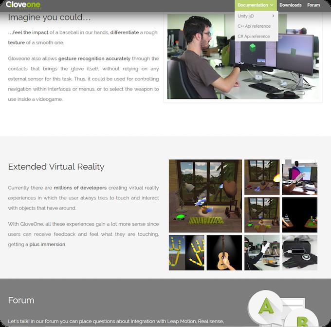 Gloveone: Feel Virtual Reality by NeuroDigital Technologies