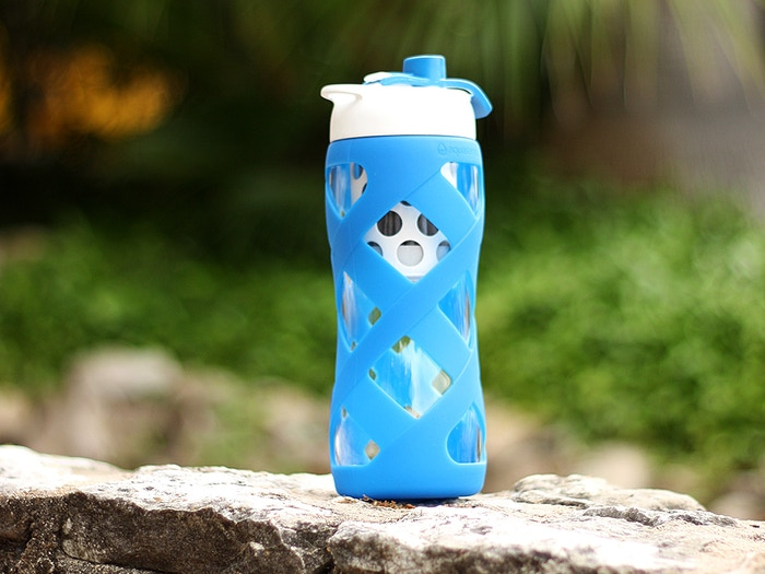 8ad09a4764 Aquasana pairs beautiful glass bottle design with water filtration never  before available in a bottle for