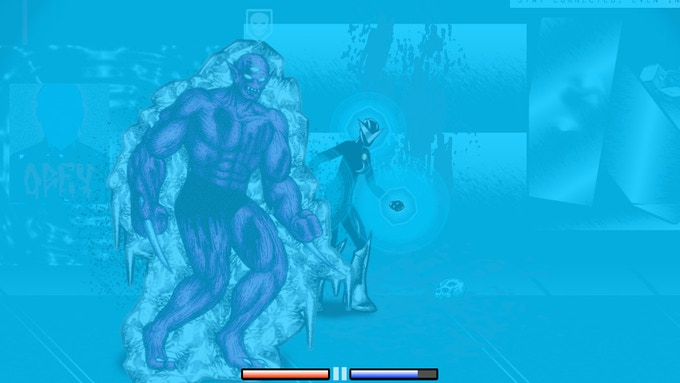 Freezing a mutant zombie with cryokinesis.