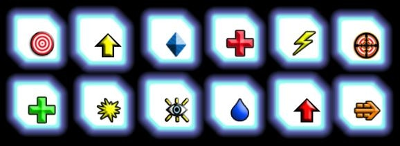 "Some of the many kinds of power cubes. In the cyberpunk world of ""Psi,"" solidified energy is the main currency."