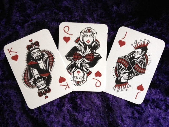 Heart Face Cards