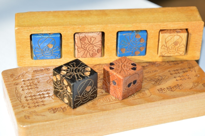 Photo of painted cubes of light and dark precious and rare woods