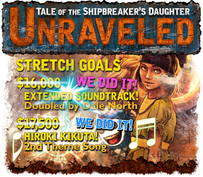 Click to view details of our Stretch Goals!