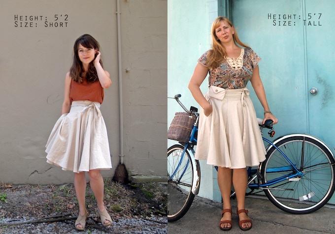 Skirts length comparison.