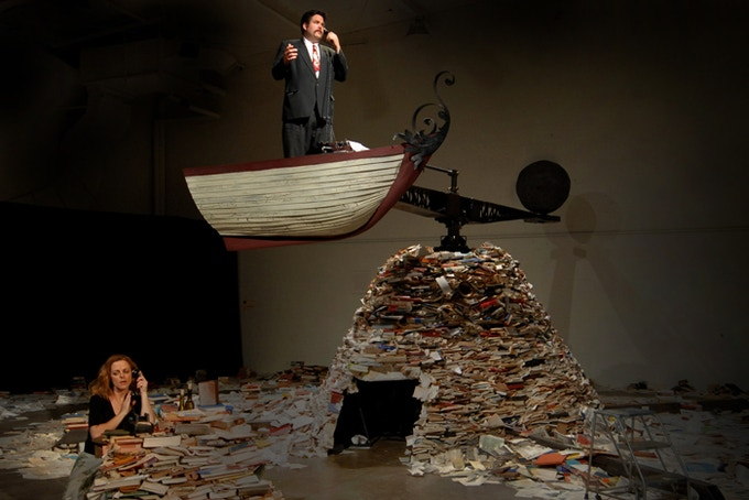 """Take A Letter"", 2010 performance view. (photo credit: Rob Long)"