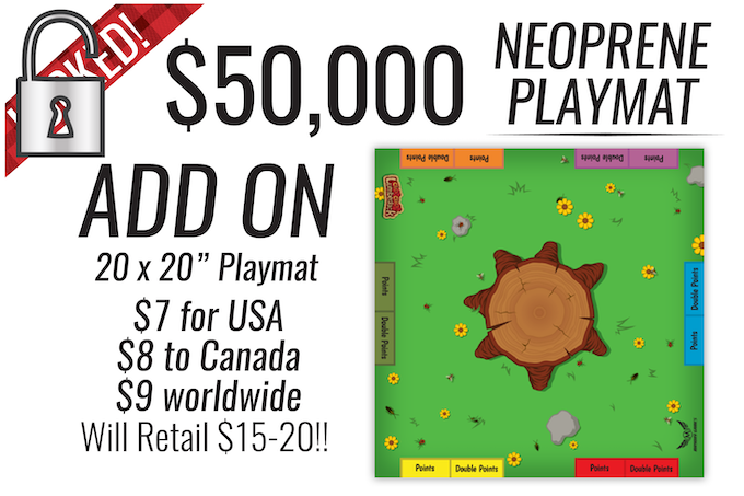 Forget $50 K, this is UNLOCKED NOW!  Increase your pledge for a mat now!