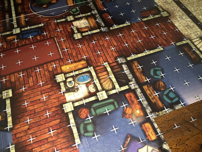 Gridless Manor with Clear Map Grid overlay