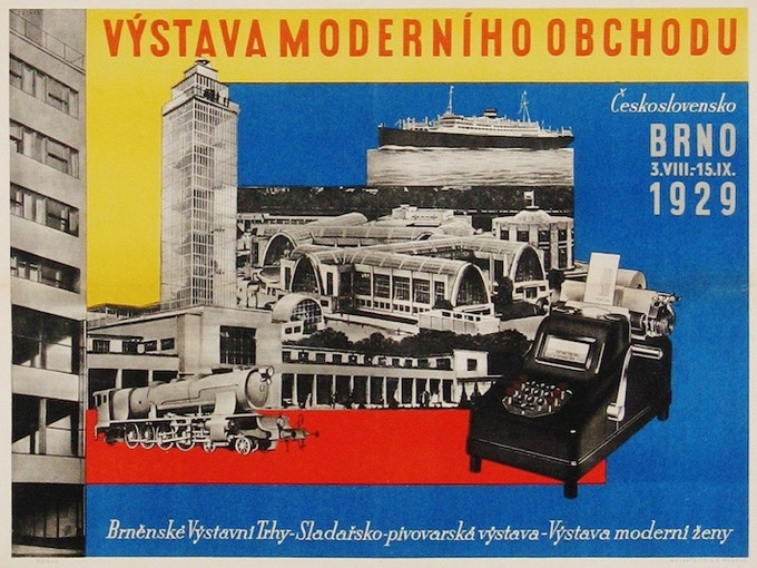 "Ladislav Sutnar, ""Vystava Moderniho Obchodu"" [Exhibition of Modern Commerce], poster, 1929"