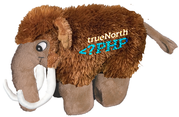PHP Woolly Mammoth Plush Toy (note: artist's rendition, actual product may vary)