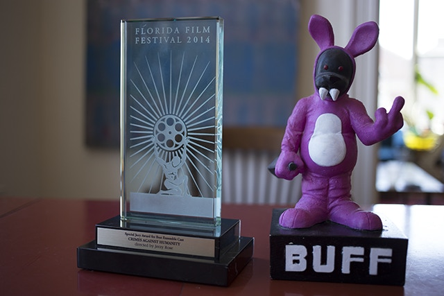 The very different-looking FFF (left) and BUFF (right) awards.