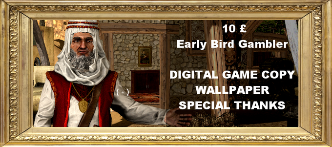 If you donate early you can get a digital download copy of the game for just £10! Plus get the rewards of the Stable Boy tier.